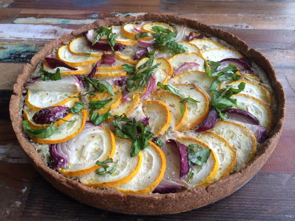 Zucchini-Zwiebel-Tarte