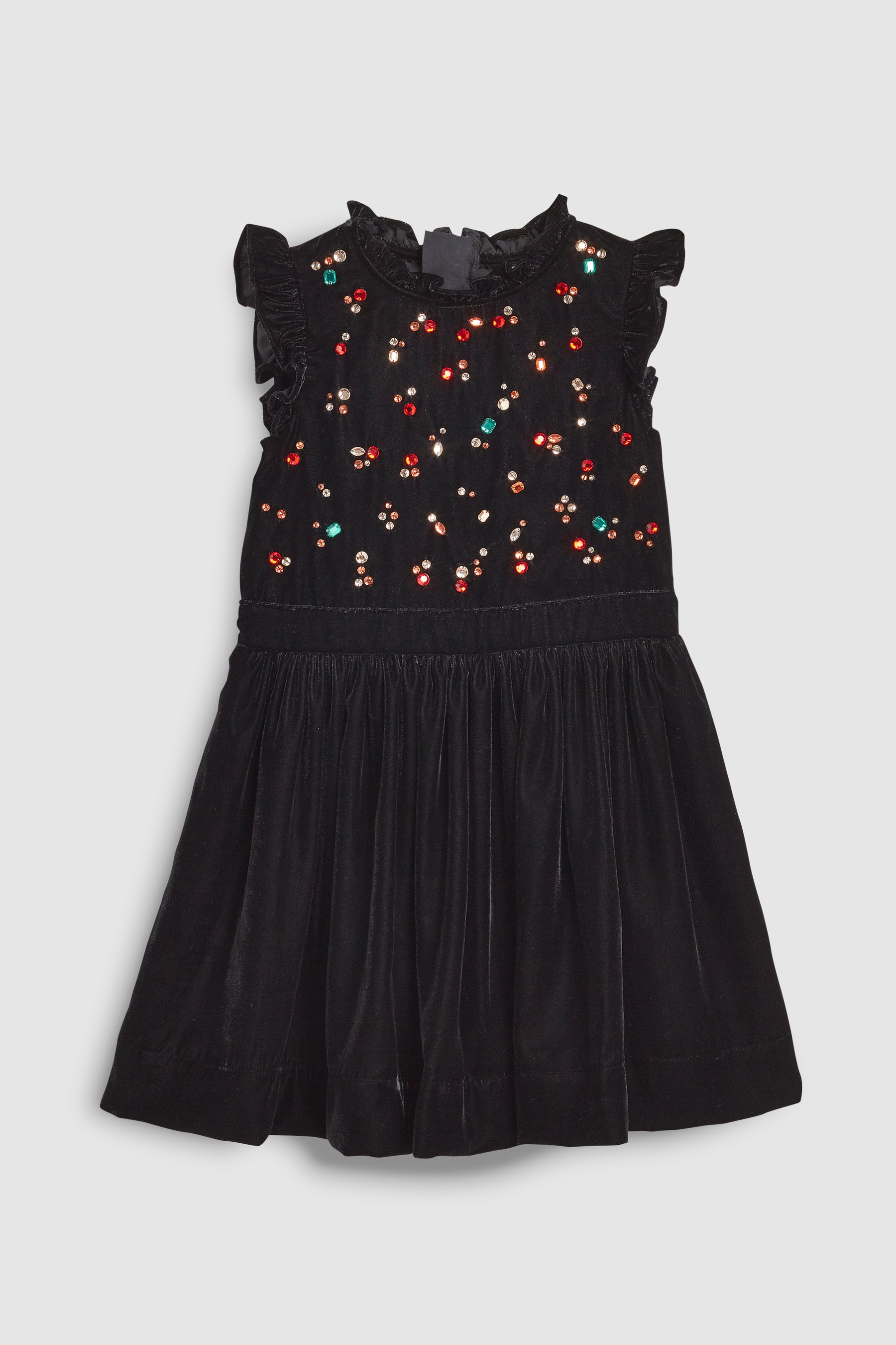 c12d46606f79 Girls Next Black Velvet Gem Dress (3-16yrs) - Black