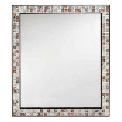 Briscoe 32 5 In L X 27 75 In W Wall Mirror In Espresso Marble