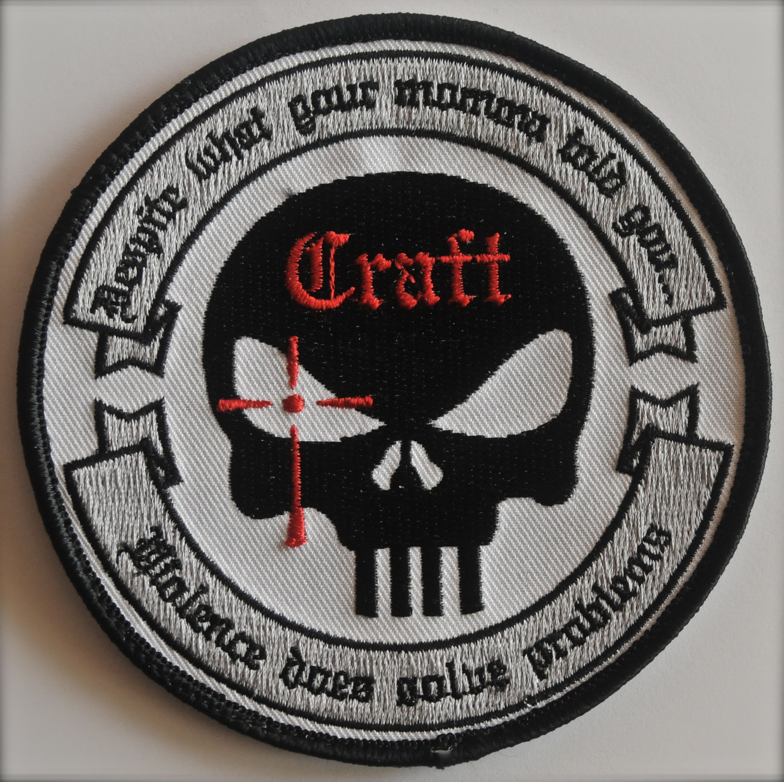 a36726d221f Authentic Chris Kyle merchandise -- Craft International patch (gray and  black)