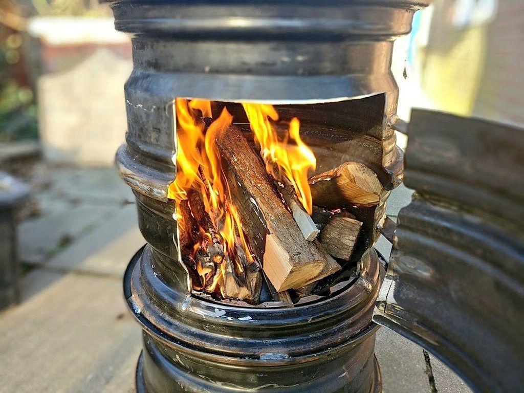 Kamin Anzünd Ofen-Grill xxl für Grill Kohle Holz