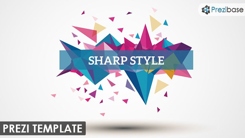 Stylish Prezi Template With An Abstract And Colorful Polygon Shapes