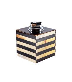 #holiday #gift #horn #lighter #decor #huntingseason #HarpersBazaar  ShopBazaar Hunting Season Striped Horn Table Lighter MAIN