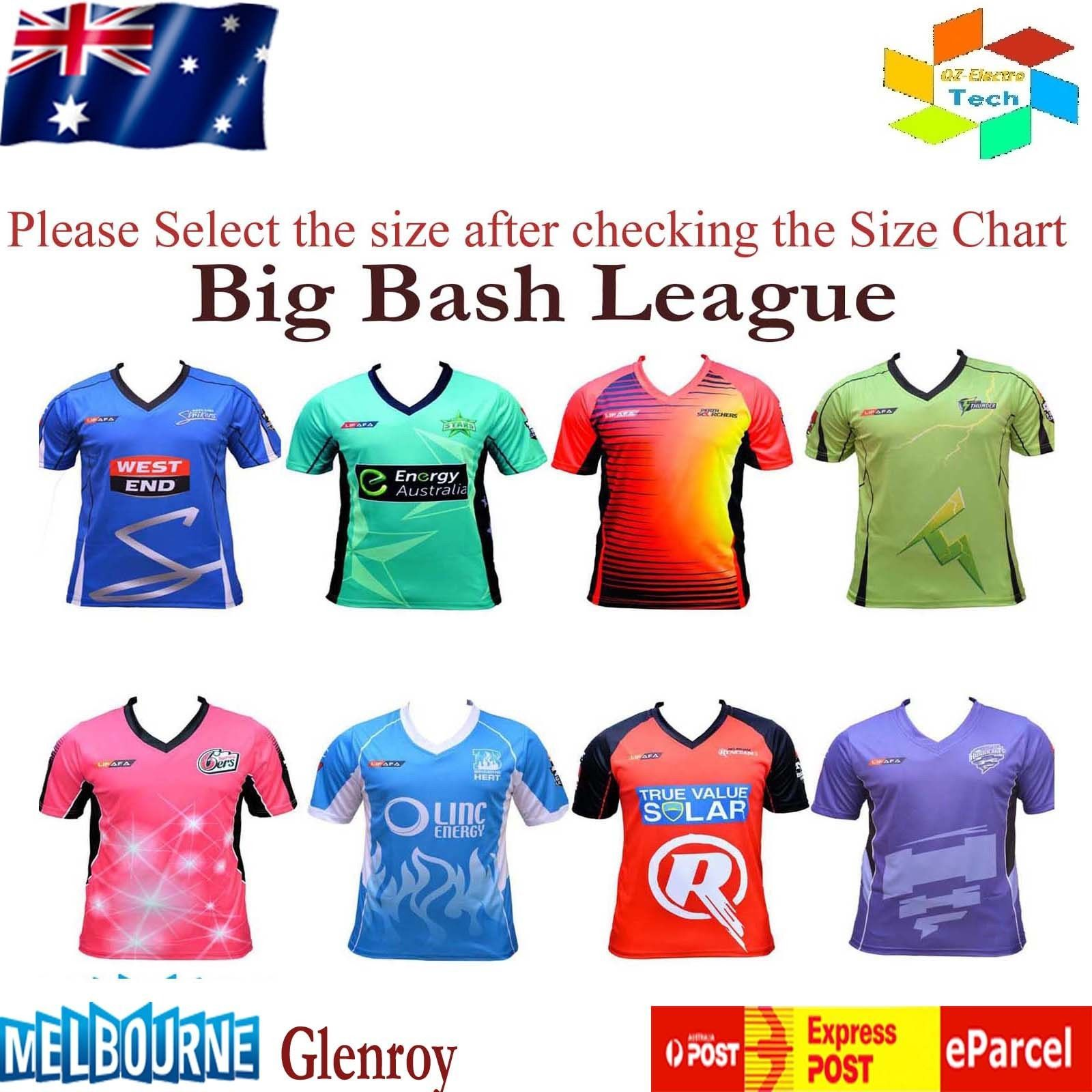 Big Bash League Men S Cricket T Shirt Bbl Teams Cricket Australia Lifafa View More On The Link Http Cricket T Shirt Melbourne Stars Sydney Thunder