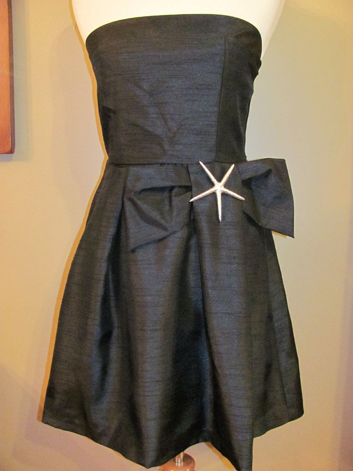 Little black dress for wedding party  Starfish Party Dress  Nautical Little Black Dress  Formal Resort