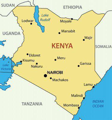 Image result for Kenya African Map
