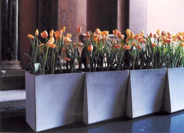 ideen für außendekorationen indoor outdoor pflanzkübel design modern ...