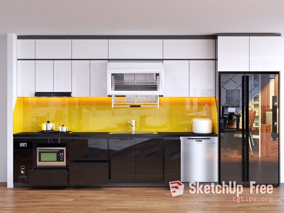 2098 Kitchen Sketchup Model Free Download (With images