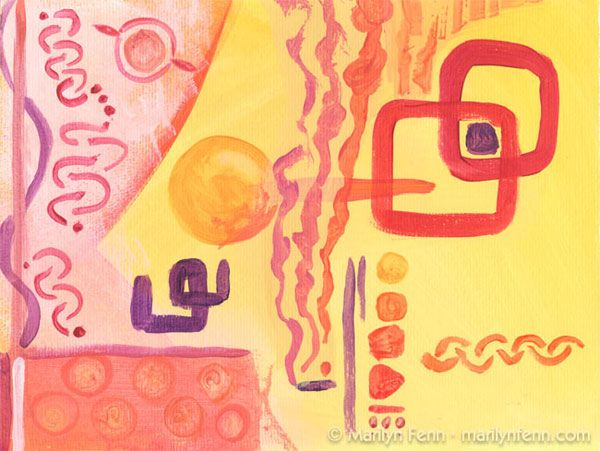 """Twenty-Sixth Day Plus 100"" - Mixed media on watercolor paper - 9"" x 12"" - unframed - © 2009 Marilyn Fenn"