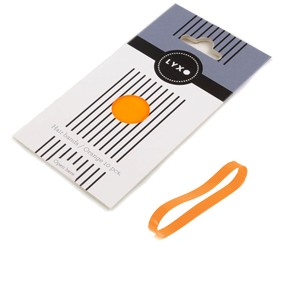 LYXO plaukų gumytės (Spalva - Orange, 10 vnt.)