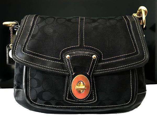 Coach 65th Anniversary Signature Legacy Ali Flap Tote Shoulder Bag Purse  10340  Coach  HandbagPurseToteShoulderBag ab5c20b9a4