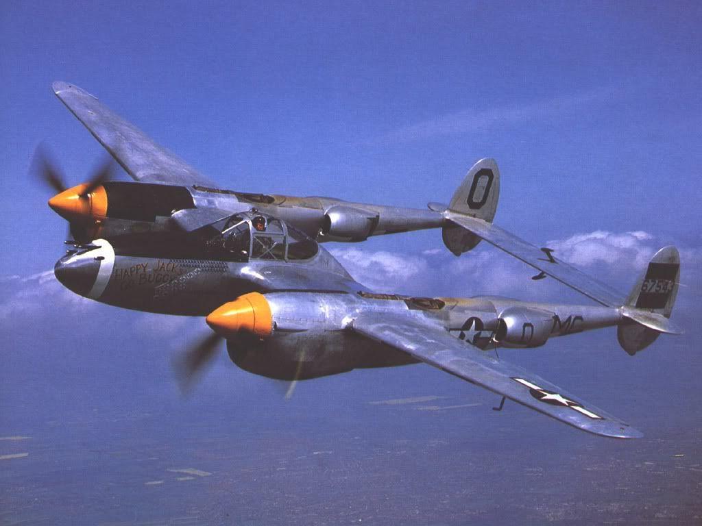 P 38 Lightning Graphics