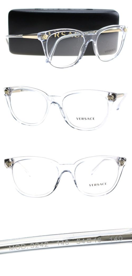 61b700405367 Fashion Eyewear Clear Glasses 179248  New Versace Eyeglasses Women Ve 3242  Clear 148 Ve3242 54Mm -  BUY IT NOW ONLY   140 on eBay!