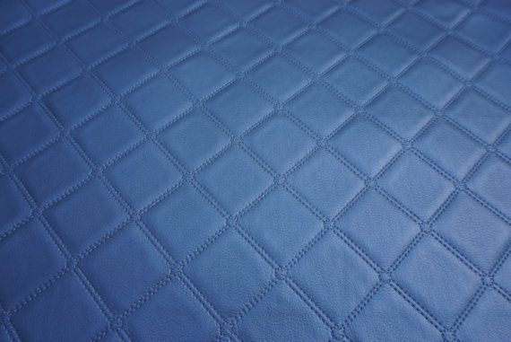 Silver Quilted Patchwork Stitch Look Leather Upholstery Fabric Vw