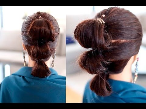 Rey S Star Wars Hairstyle Tutorial The Force Awakens Easy Triple Bun Hair Rey Star Wars Hair Star Wars Hair Cute Prom Hairstyles