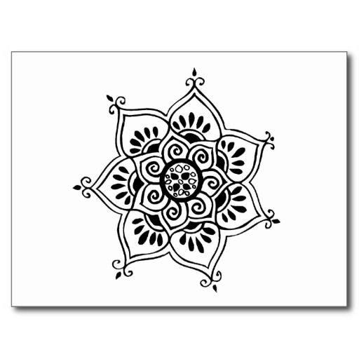 Lotus flower tribal tattoo design postcard art pinterest lotus flower tattoo designs lotus flower tribal tattoo design postcard mightylinksfo