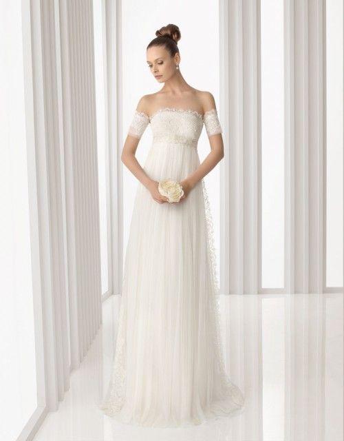 Fotos de vestidos de novia corte imperio