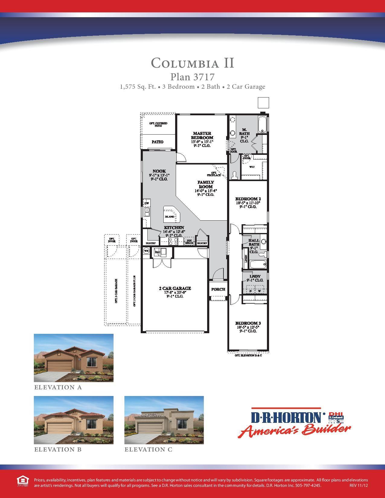 Dr Horton Columbia Ii Floor Plan Via Www Nmhometeam Com House Floor Plans Dr Horton Homes Floor Plans