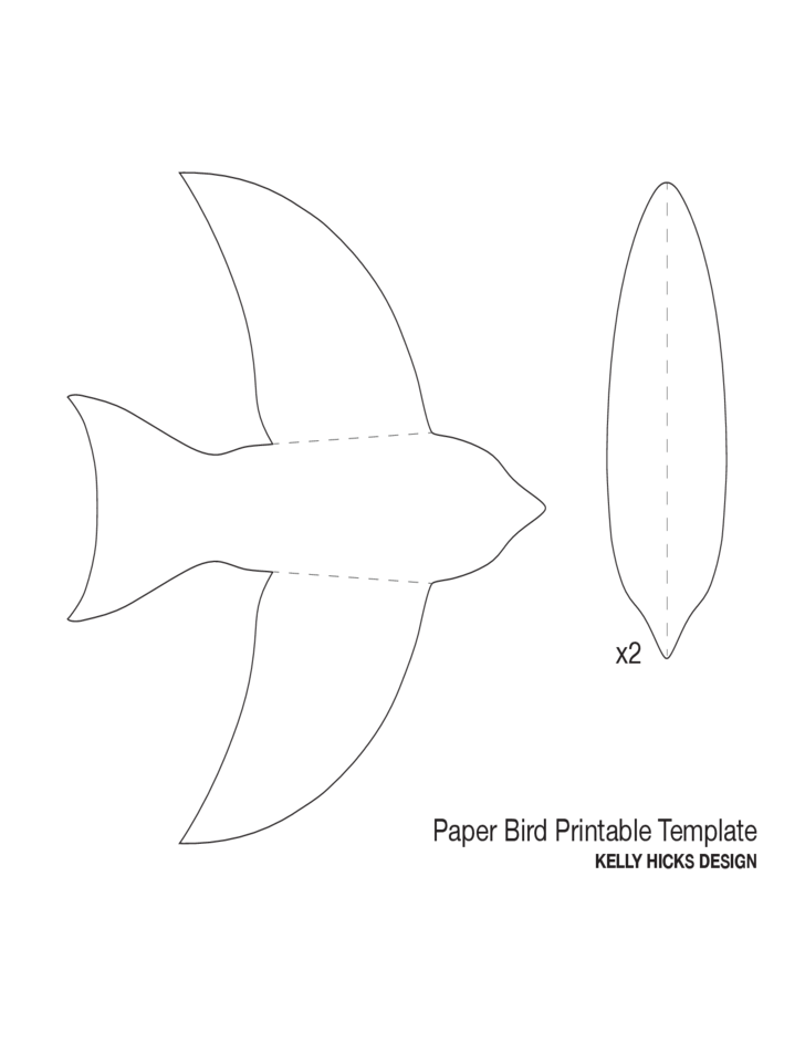 paper bird template l1 png 728 943 decomp makery projects