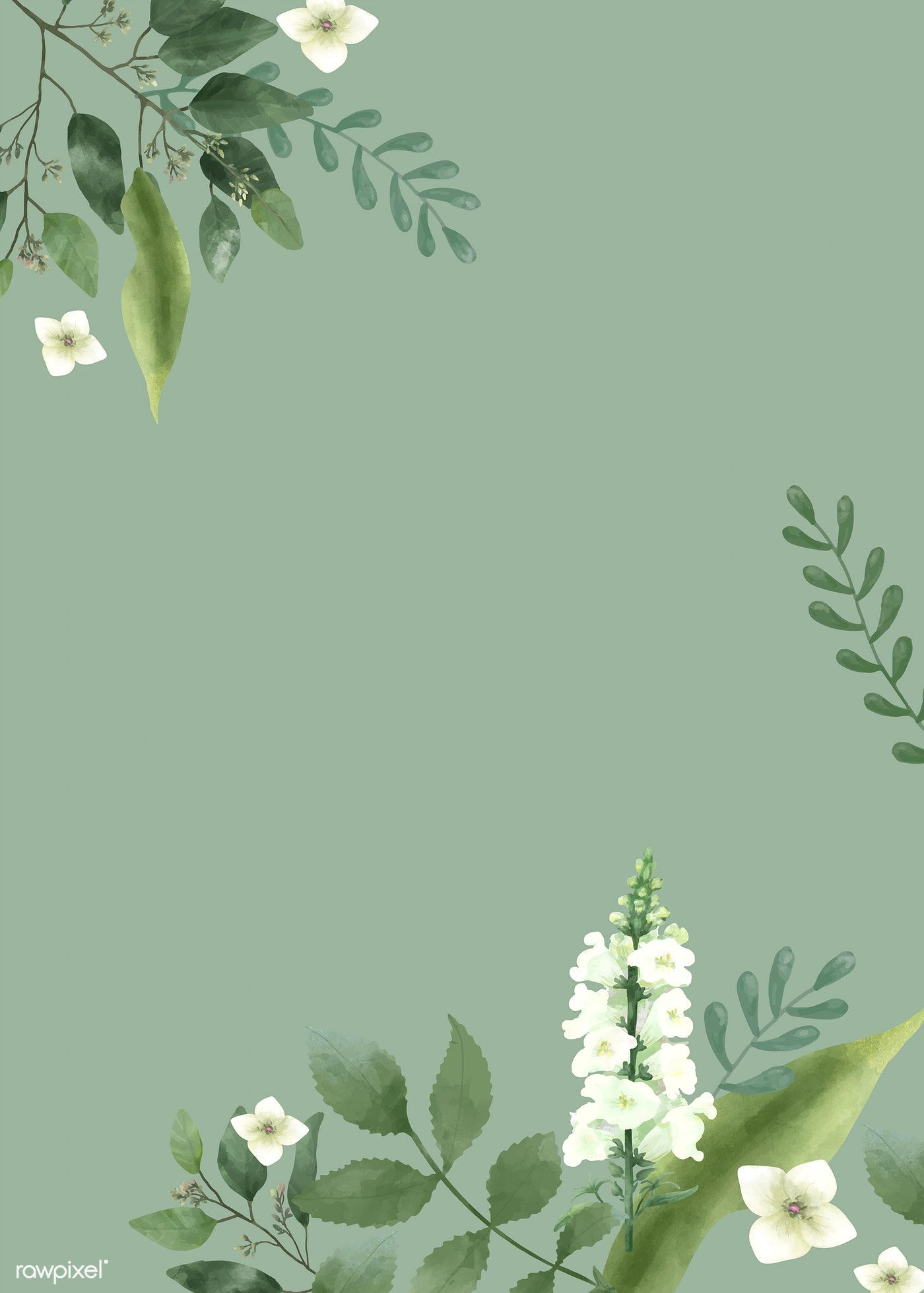 Download Premium Vector Of Invitation Card With A Green Theme