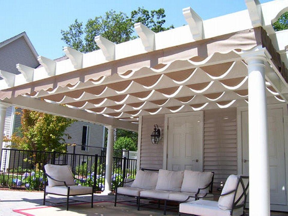 Covered Pergola Enhances Beauty And Grandeur Of Home