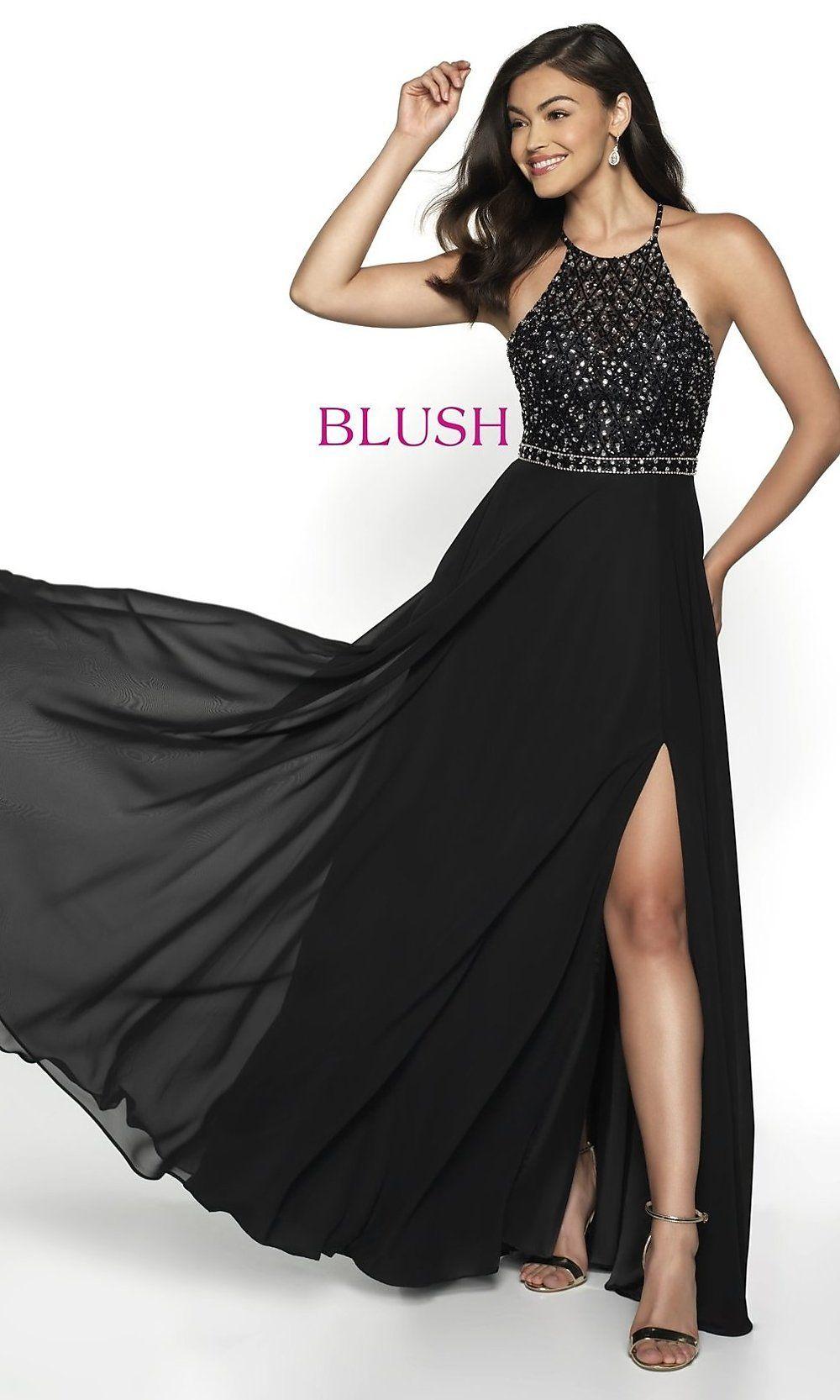 edfbc8949e0 Long Open-Back Beaded Designer Prom Dress by Blush in 2019