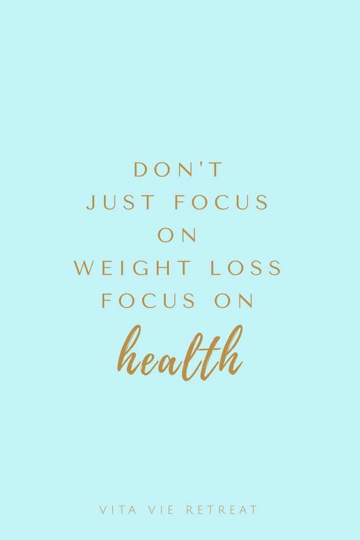 Good Health Will Lead To Weight Loss