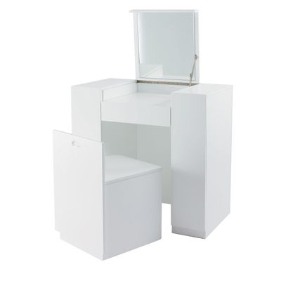 White Hideaway Dressing Table Dressing Table Modern Storage Chair Dressing Table