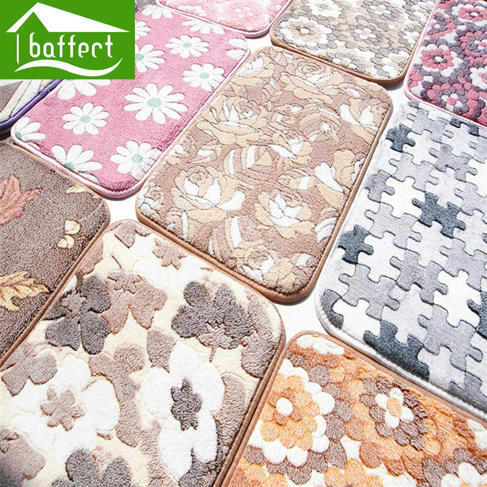 Bath mat useful cm thick coral velvet mats horizontal stripes