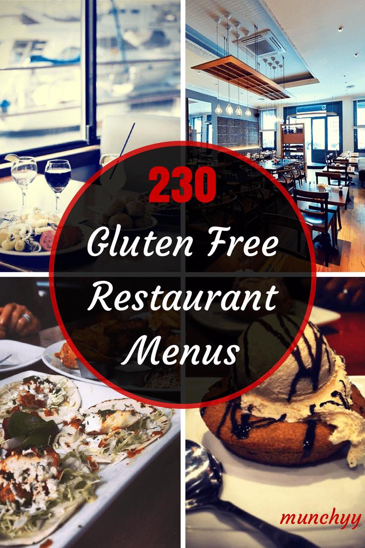 Best Gluten Free Restaurant Menus