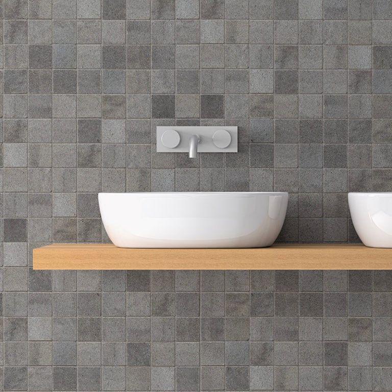 Grey Mosaic Pvc Wall Panels Mineral Stone Effect Targwall Pvc Wall Panels Pvc Wall Bathroom Wall Cladding