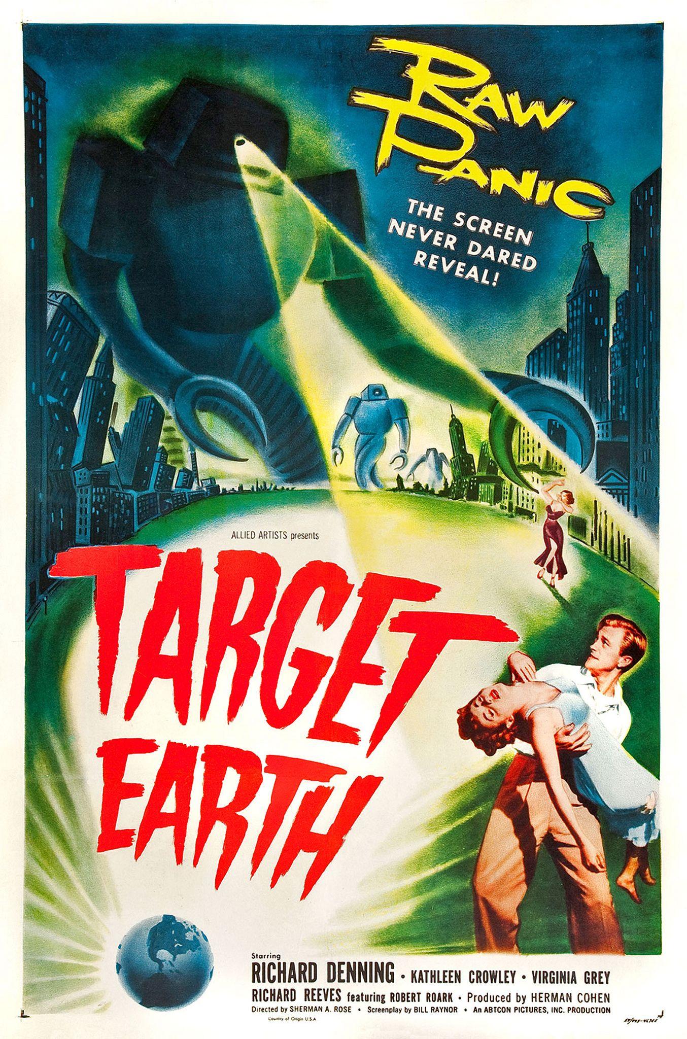 TARGET EARTH 01 VINTAGE B-MOVIE REPRODUCTION ART PRINT A4 A3 A2 A1