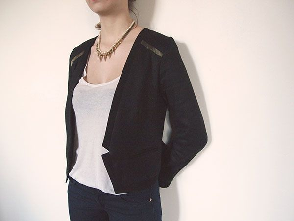Veste cuir julia comptoir des cotonniers