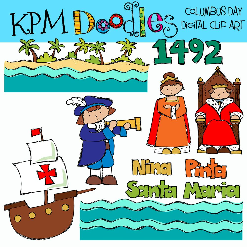 Kpm Doodles Columbus Day Clip Art Happy Columbus Day Columbus Classroom Fun