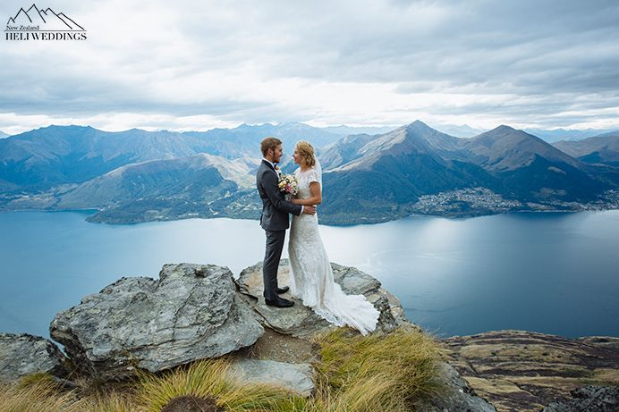 Wedding Photography On The Ledge Queenstown New Zealand Planned By Heli Destination