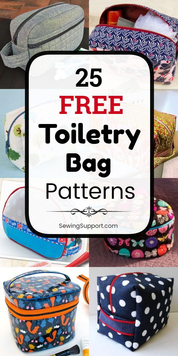 25 Free Toiletry Bag Patterns #mensstyle