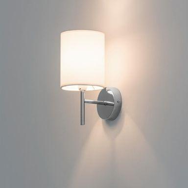 Kinkiet Yan Chrom Bialy Z Chromem E14 Candellux Kinkiety W Atrakcyjnej Cenie W Sklepach Leroy Merlin Wall Lights Sconces Lamp