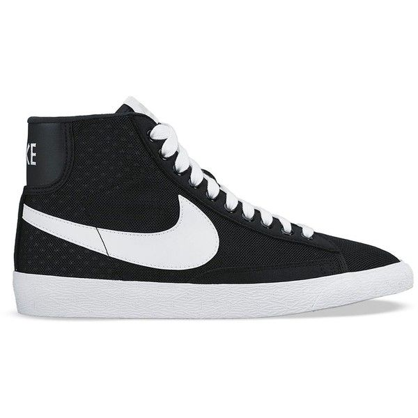 3592603f8df Nike Lace Up High Top Sneakers - Women s Blazer Mid Mesh ( 90) ❤ liked on  Polyvore featuring shoes