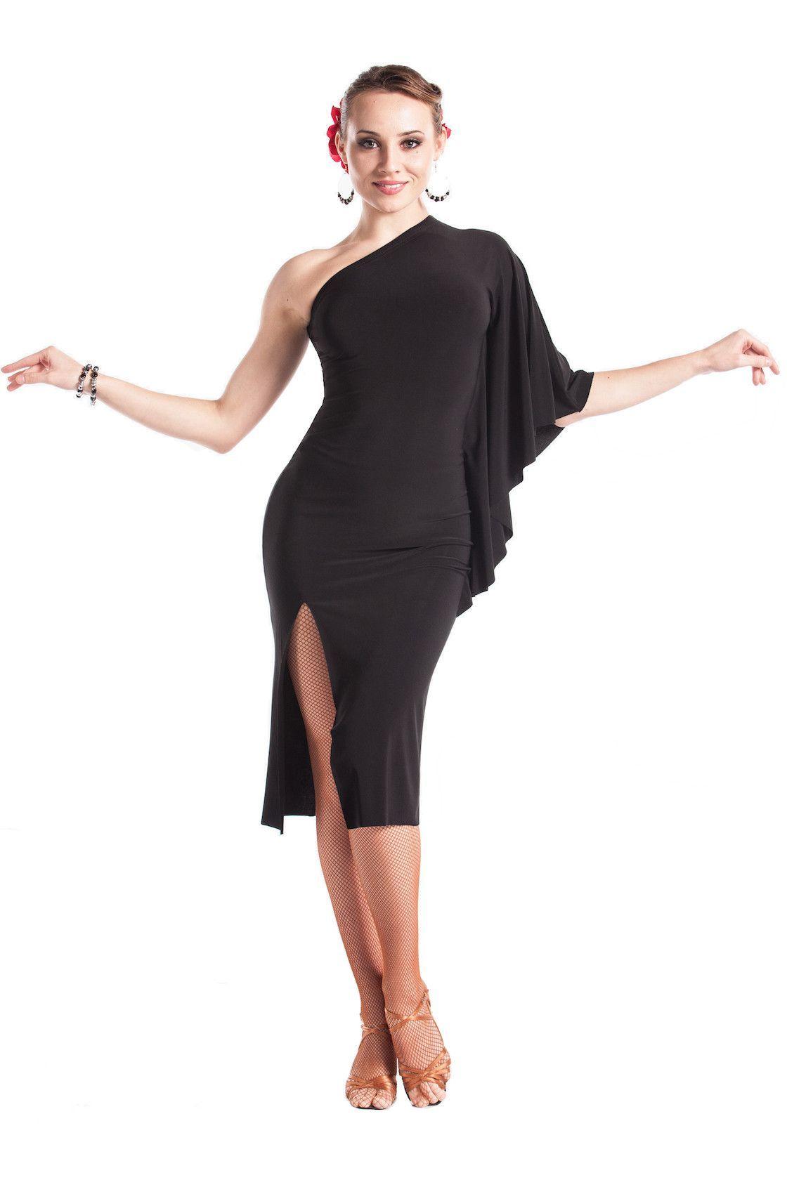 """Fabulous in Black"" Latin Dance Dress"