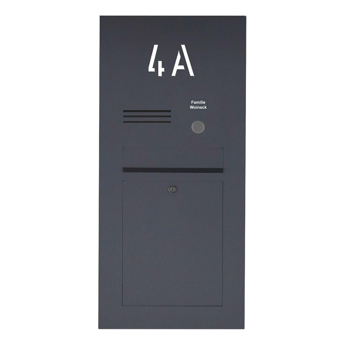 Edelstahl Briefkasten Designer Mit Hausnummer Hinterbeleuchtet Ral Nach Wahl Individuell In 2020 Briefkasten Beleuchten Kasten