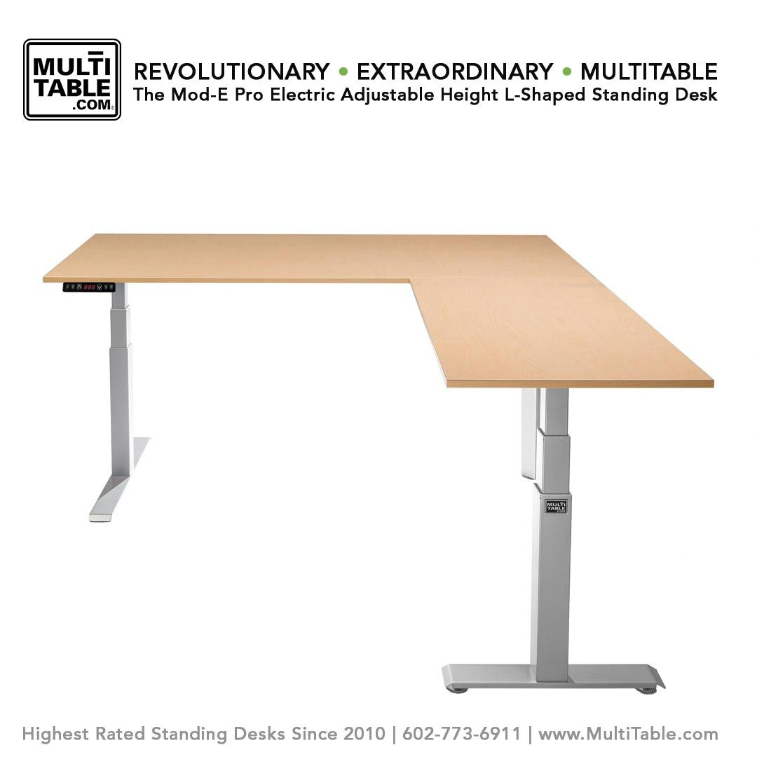 The Mod E Pro Electric L Shaped Standing Desk Multitable Best Standing Desk Standing Desk Adjustable Height Standing Desk