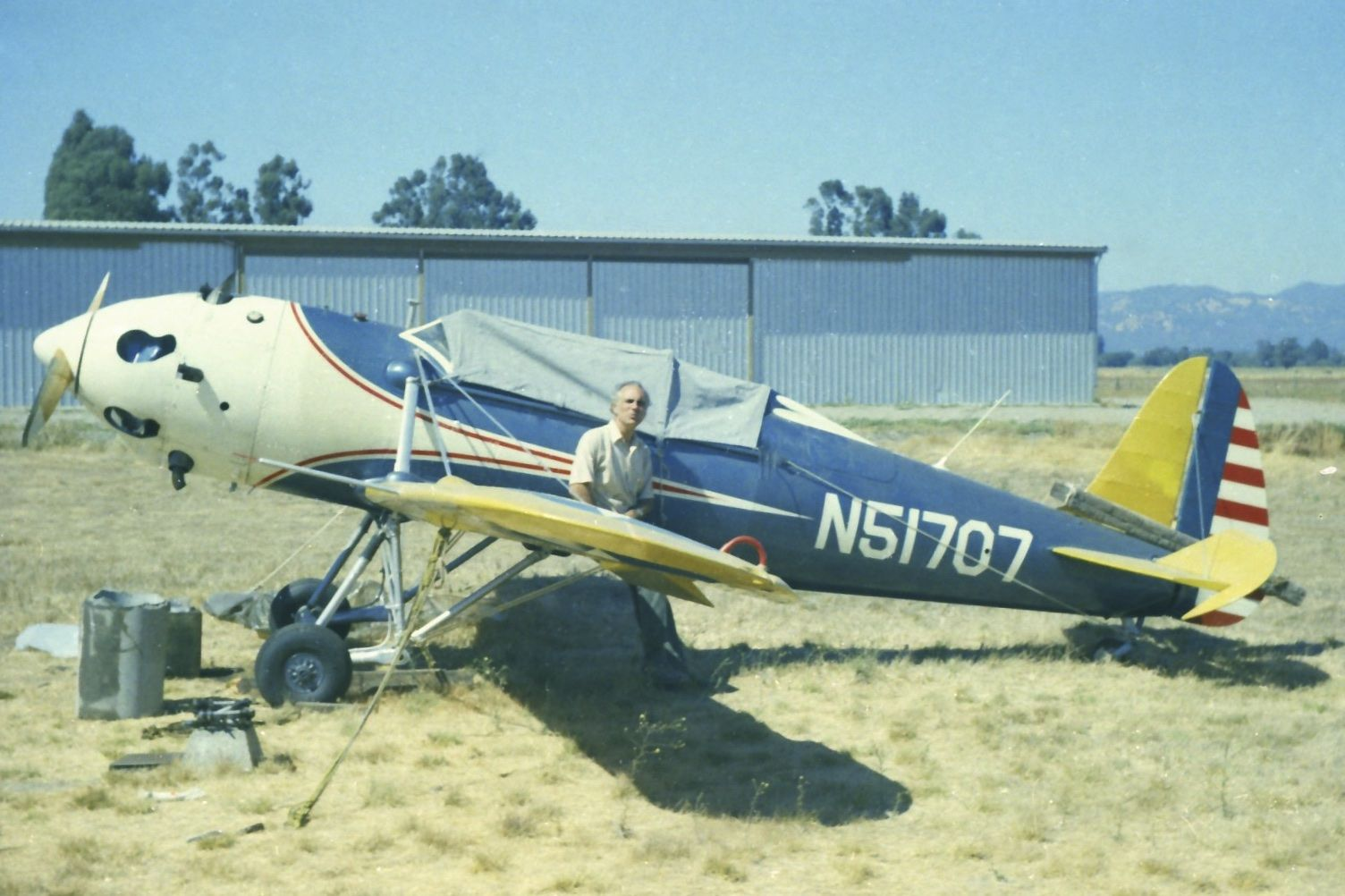 1942 Ryan PT22 ST3KR N51707. Paso Robles Airport in