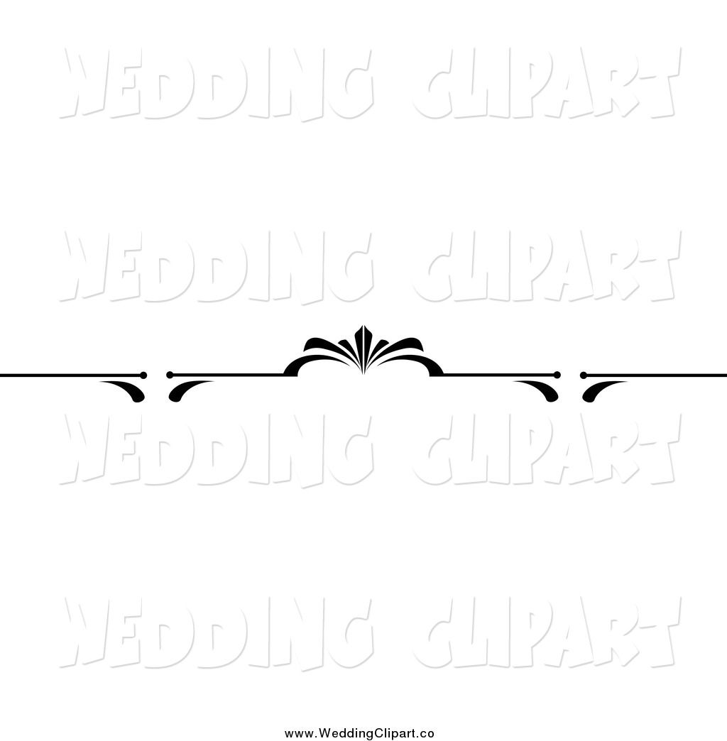 Vector Marriage Clipart Of A Black And White Wedding Page Border Wedding Clip Clip Art Wedding Clipart