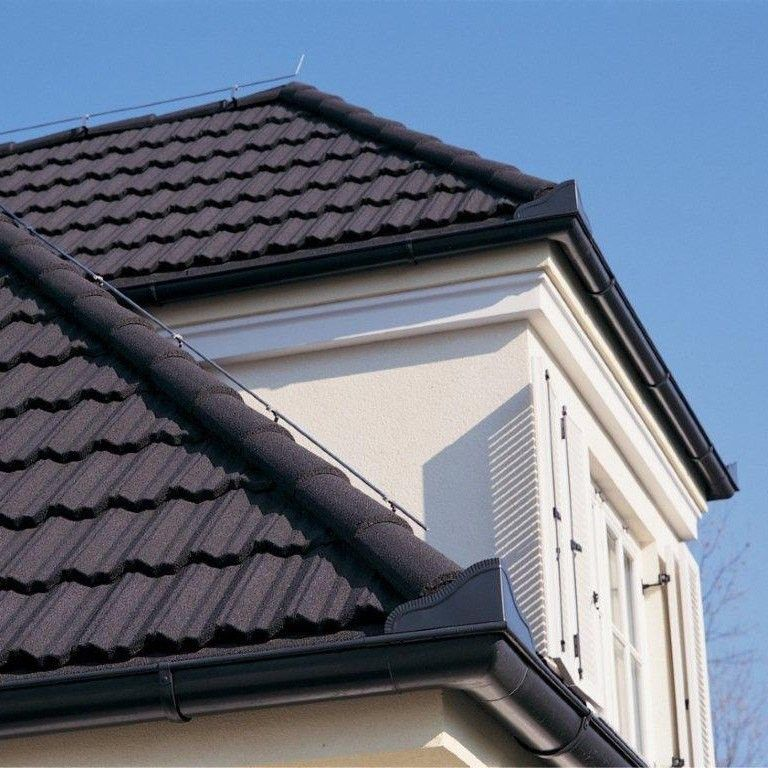 Black Stone Coated Steel Roof Google Search Roofing Metal Roof Roof