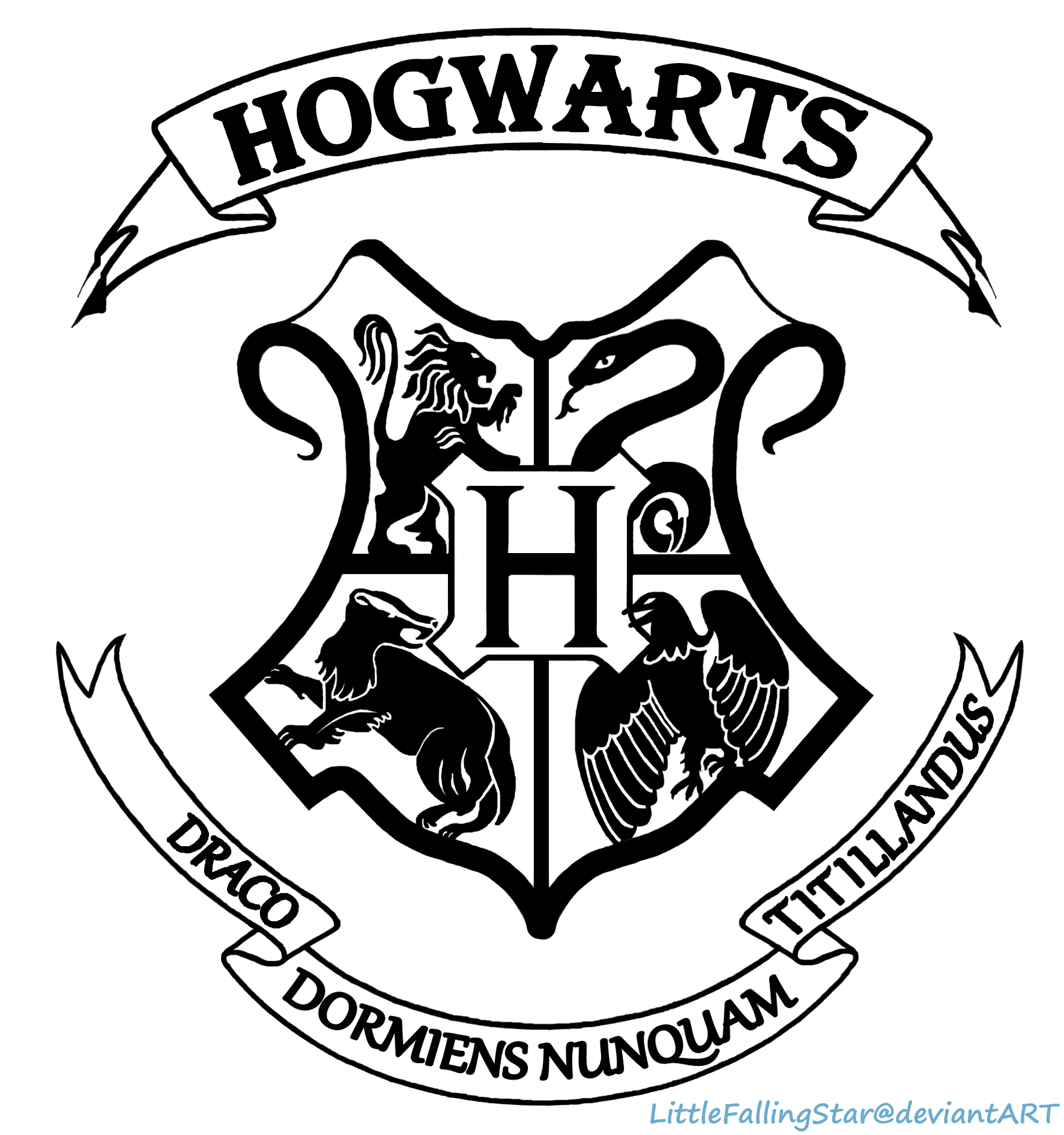 Hogwarts Crest By Littlefallingstar On Deviantart Logo De Hogwarts Silueta De Harry Potter Escudo De Hogwarts