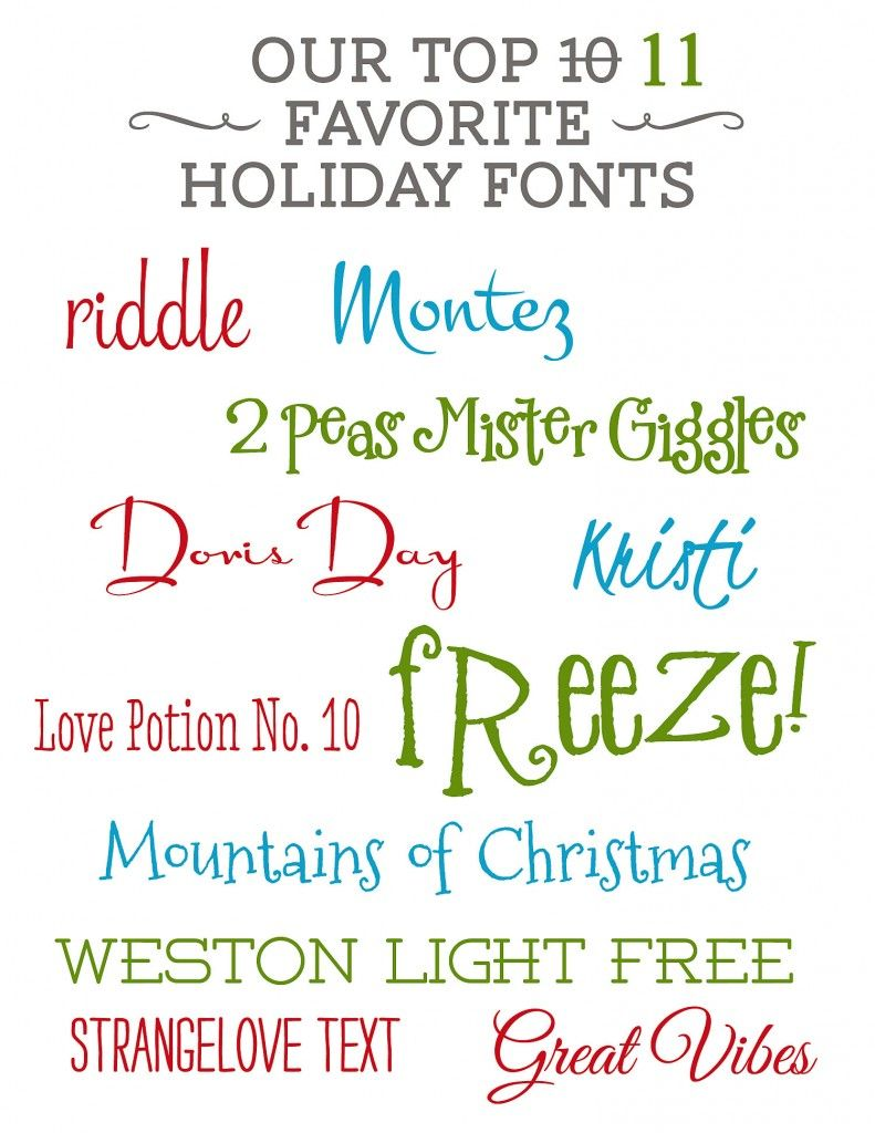 11 Favorite Fonts From Lil Sprout Greetings Craft Ideas