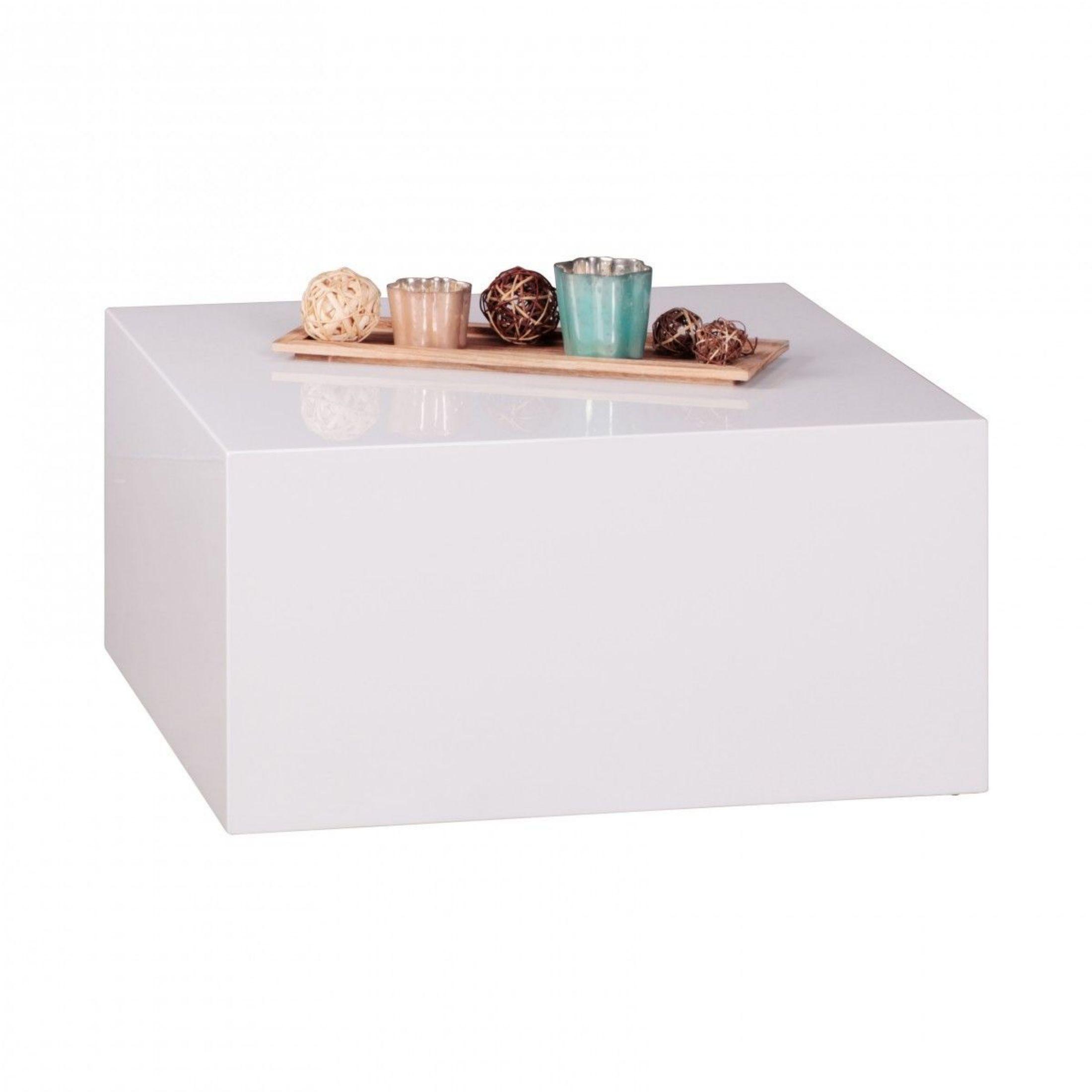 Couchtisch In Weiss Hochglanz 60 X 60 Cm Woody 197 00193 Holz Modern Jetzt  Bestellen