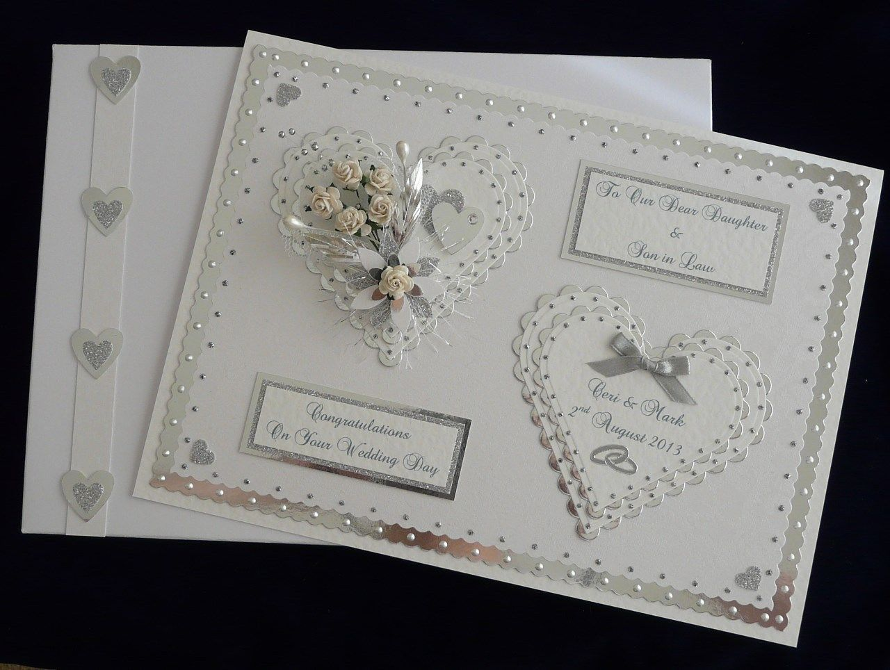 Personalised Handmade Congratulations On Your Wedding Day Card Son Daughter
