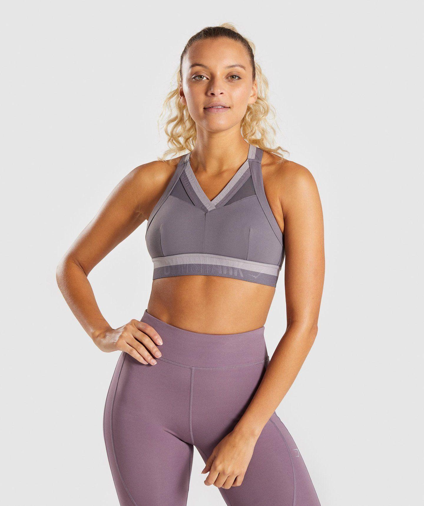acf058f72c6f8 Gymshark Empower Sports Bra - Slate Lavender in 2019
