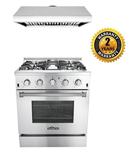 Thor Kitchen 2 Piece Kitchen Package With 30 Pro Style 4 Burner Stainless Steel Gas Range And 30 Under Cabinet Ran Gas Range Oven Range Stainless Range Hood